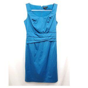 BANANA REPUBLIC Teal Pleat Waist Shift Dress GUC